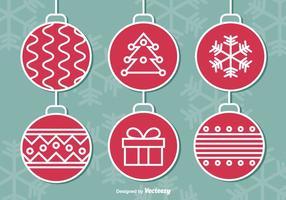 Bolas de Natal penduradas vetor