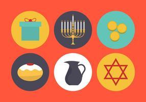 Símbolos vetoriais de Hanukkah vetor