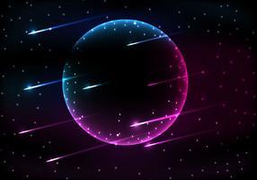 Vetor grátis da noite estrelada