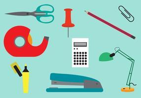 Conjunto de ferramentas de escritório no vetor