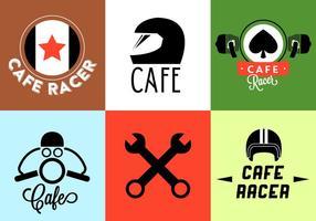 Ilustração vetorial de emblemas de motocicleta vetor