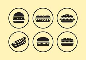 Ícones de comida vetor