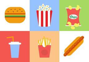 Coleção de vetores de fast food