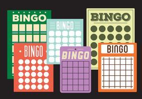 Cartões de Bingo vetor