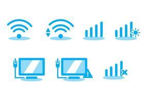 Conjunto de vetores de ícones wifi