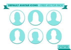 Pacote de vetores padrão do avatar Free