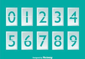 Contador de números brancos em turquesa vetor