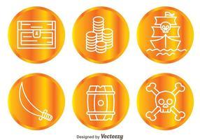 Ícones de moeda do caçador de tesouros