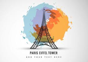 Arte abstracta da torre eiffel vetor