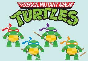 Mini vetores de ninja tartarugas
