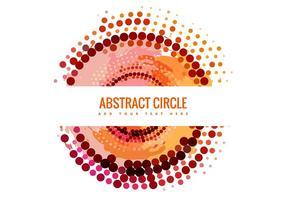 Vetor de banner de círculo de meio-tom abstrato