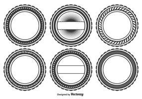 Conjunto de formas de crachá em branco vetor