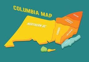 Vetor do mapa da Colômbia Britânica