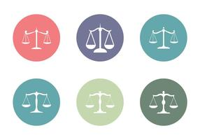 Ícone livre do vetor do escritório de direito
