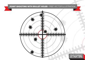 Ponto de tiro com buracos de bala Ilustração vetorial livre vetor