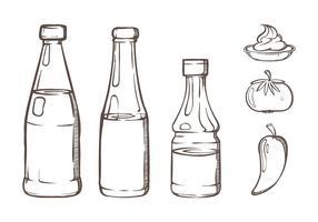 Ilustrações de molho de garrafa vetor