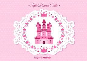 Vetor do castelo da princesa