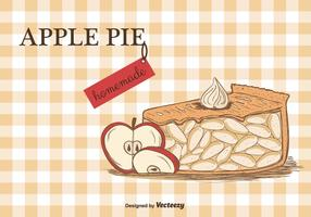 Fundo do vetor Apple Pie