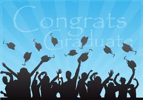 Parabéns Graduate Vector Background