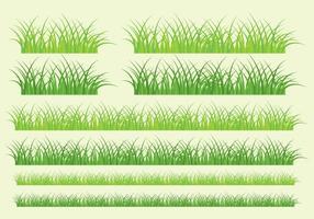 Bandeiras de grama vetor