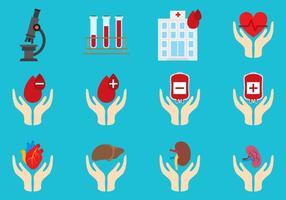 Sangue e órgãos doados vetor