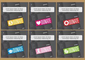 Vetores de doação de teclado