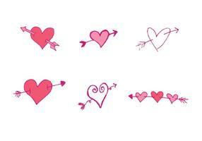 Flecha livre através de série de vetores cardíacos