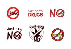 Série livre sem drogas de drogas vetor