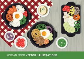 Ilustração do vetor da comida coreana