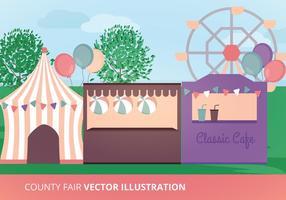 Ilustração vetorial da feira do condado