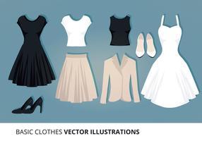 Ilustração vetorial de roupas vetor