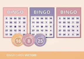 Ilustração do vetor de cartões de Bingo