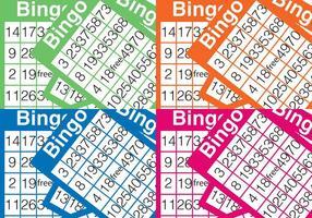 Fundo do cartão de bingo