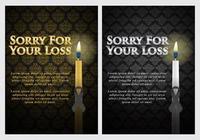 Cartões de luto vetor