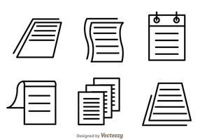 Vetores de ícones de folhas de papel