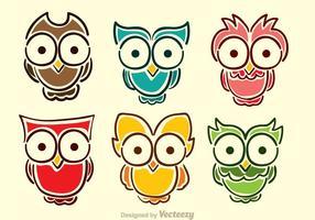 Vetores de coruja de desenhos animados