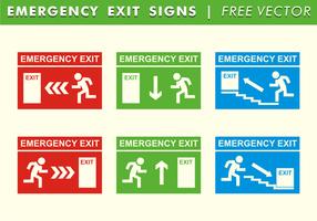 Sinais de saída de emergência Vector grátis