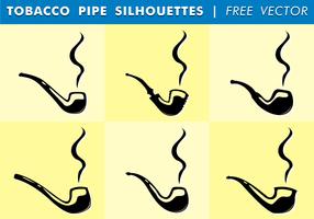 Silhuetas de tubulação de tabaco Vector grátis
