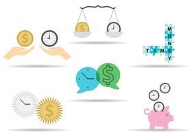 O tempo é dinheiro Conceitos vetor