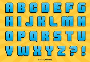Conjunto de alfabetos de estilos comic vetor