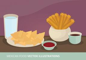 Ilustração do vetor da comida mexicana