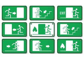 Sinal de saída de emergência vetor