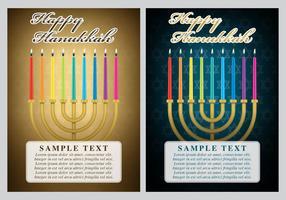 Cartões de Hanukkah vetor