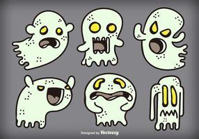 Fantasmas dos desenhos animados vetor