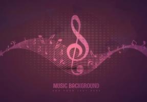 Design de fundo musical vetor