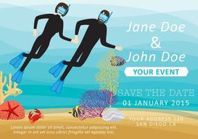 Convite de mergulho de casal