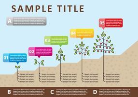 Infografia de plantas vetoriais vetor