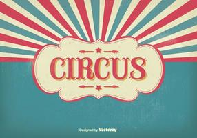 Ilustração do circo do vintage