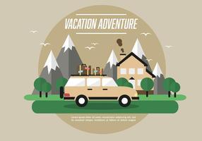 Free Web Travel Vector Background com paisagem bonita