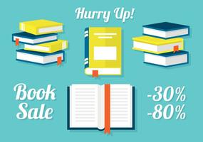 Free Set of Books in Flat Design Ilustração vetorial